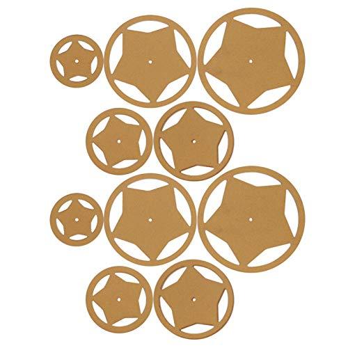 SALUTUYA Schablonenschablone 10 Stück langlebiges Acryl zum Schneiden von Patchwork-Mustern