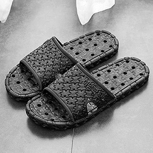 ypyrhh Sandalias de Talón Abierto para Mujer,Pantofole antiscivolo,Moda bagno-Nero_42-43,Sandalias con Punta Abierta Hombre