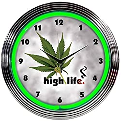 Neonetics High Life Neon Clock