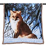 Sherpa Fleece Blanket Throw Size, Reversible Plush Throw Blanket for Couch Sofa Chair, Super Soft Fuzzy Cozy Animal Printed Blanket for Kids Boys Girls Children, 51 x 63 inches