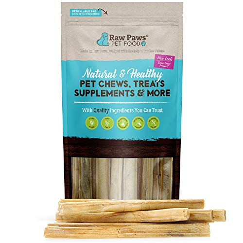 Raw Paws Pet Premium 10-inch Compressed Rawhide Sticks for Dogs, 10-Count - Packed in The USA - Natural Rawhide Dog Chews - Rawhide for Large Dogs - Safe Rawhide Rolls