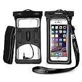 Wasserfeste Handyhülle, Vansky® schwimmfähige Hülle Trockenbeutel mit Armbinde und Audio-Buchse für iPhone und