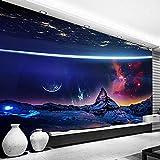 Mural de fotos en 3D, póster de cielo estrellado del universo, dormitorio moderno, sala de estar, decoración de pared, pintura, papel tapiz, revestimiento de paredes-400x280cm