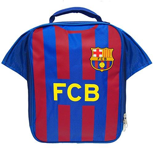 Sac isotherme à lunch bleu, kit Cadeau de football aux couleurs officielles du FC Barcelone