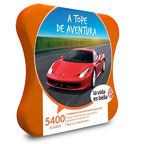 LA VIDA ES BELLA - Caja Regalo hombre mujer pareja idea de regalo - A tope de aventura - 5400 planes como conducción Ferrari, rafting, parapente, escalada y surf