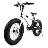 "Swagtron EB-6 Bandit E-Bike 350W Motor, Power Assist, 4"" Tires, 20"" Wheels, Removable 36V Lithium Ion Battery, Dual Disc Brakes– Electric Bike 7-Speed SIS Shifting Built for Trail Riding"
