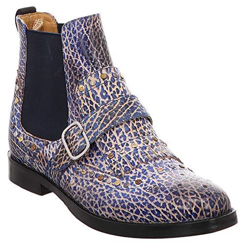 MELVIN & HAMILTON MH HAND MADE SHOES OF CLASS Amelie 53, Boots Chelsea femme - Bleu - Saphire, 38 EU