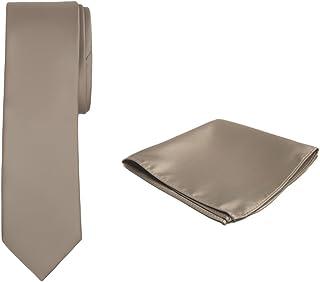 Jacob Alexander Solid Color Boy's Regular Tie and Hanky Set