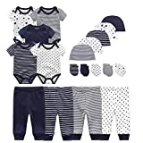 Chamie Baby Bodysuits Newborn Clothes & Accessories Set Short Sleeve Onesies Baby Clothes Caps Mittens Pantsfor Boys and Girls