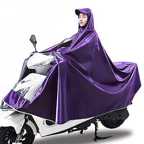 WYB Impermeable Doble para Coche con batería, para Hombre, Mujer, Ciclismo, Bicicleta, Capa de Lluvia, Poncho, Bicicleta, Senderismo, Acampada, Actividad al Aire Libre,C,8XL