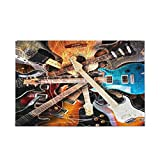 Magic Electric Guitar Music Jigsaw Puzzle 1000 Pieces for Adults Kids DIY Gift