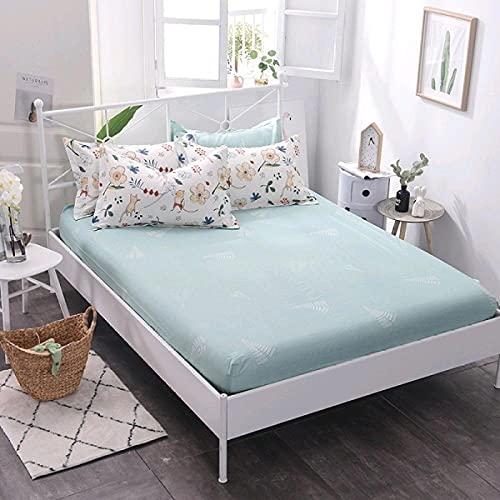 CYYyang Protector de colchón Transpirable.Rizo Bambú. Sábana de algodón Antideslizante Producto individual-14_180x200cm