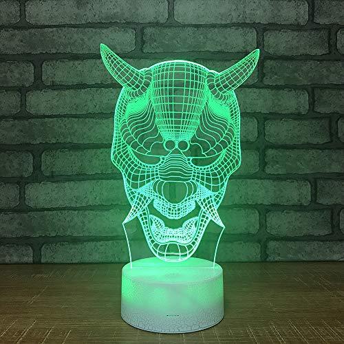 YDBDB Sept cadeau coloré de décorations de lumière de nuit du masque source 3D masque pour la chambre de bébé s'allume en gros