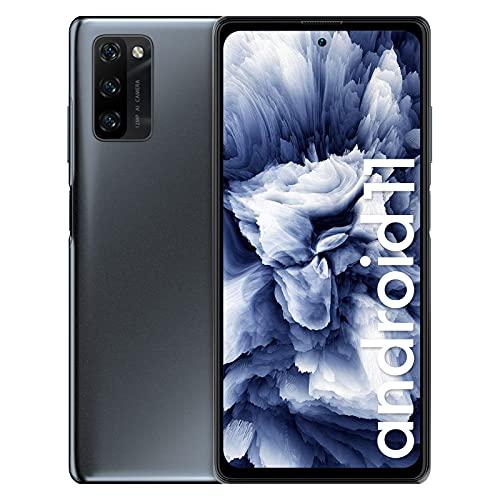 Blackview A100 Smartphone Libre, Android 11 Teléfono Móvil, con Pantalla FHD+ de 6.67', Helio P70 Octa Core, 6GB + 128GB(SD 256GB), AI Cámara Triple de 12MP, Batería de 4680mAh, Dual SIM, NFC -Negro