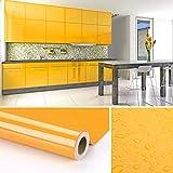 KINLO Pegatina para Muebles,0.61 * 5M per Rollo Engomada Autoadhesiva de PVC para Decorar y Proteger, Pegatina para Muebles/Cocina/Baño, a Prueba de Agua/Moho