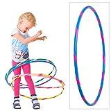 hoopomania Bunter Kinder Hula Hoop für kleine Profis, Ø70cm, Blau-Pink
