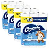 Charmin Toilet Paper (Older Version), 12 Count of 142 Sheets Per Roll, 12 Roll (Pack of 4)