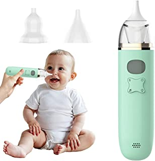 DZZ Baby Nasal Aspirator Automatic Electric Nose Suction Baby with 3 Suction Adjustable 2 Reusable Silicone Tips LED Displ...