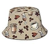 DPQZ Fisherman Hat Coffee Bean Ice Cream Sun Bucket Hats Beanie Cap Outdoor Fishing Travel for Mens Womens