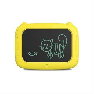 Lcdライティングタブレット 電子製図板10.5インチ猫グラフィック手書きペーパーレスメモ帳ホームジョブスクールオフィス黒板に適して,Yellow