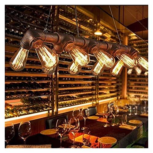 Palm kloset Lámpara de Techo de Estilo Industrial Retro Lámpara de Hierro para Bar Bombillas para Restaurante y cafetería 70 * 10