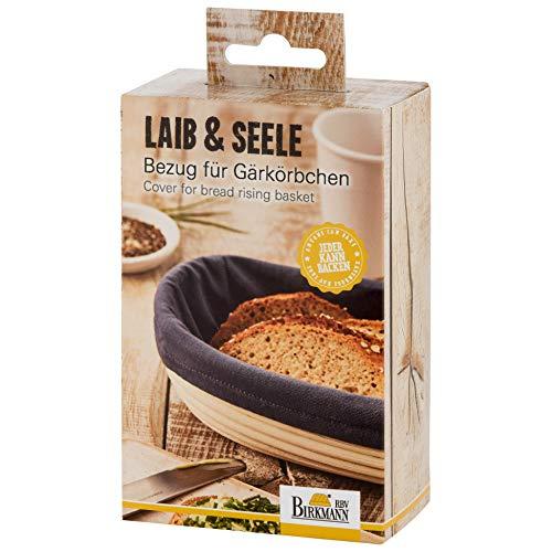RBV , 700666, Laib und Seele, Bezug für Gärkörbchen, länglich, Klein 700666 Funda para cestas de fermentación (tamaño pequeño), diseño de LAI y Lago, algodón, Gris, 25 cm x 18 cm x 1 cm