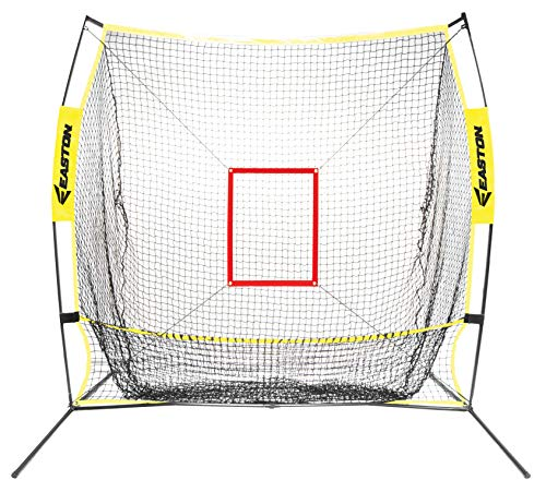 EASTON XLP Baseball Softball Pitching + Batting Catch Net | 5 FT | 2020 | Heavy Duty Netting + Double Stich For Durability | Extra Large Catch Pocket | Lightweight + Durable Frame | Easy Set-Up