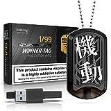 Cigarrillo Electronico cigarro electrónico vaper kit Manvap® Winner Tag Cigarrillos Electrónicos, Bobina de cerámica porosa,sin nicotina,dog tag pod(Negro)