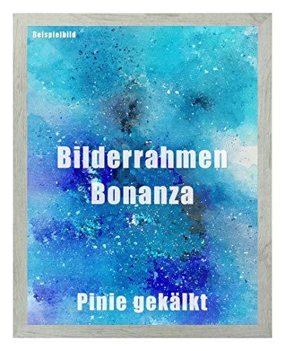 Homedecoration Bilderrahmen Bonanza Bildgröße 40 x 50 cm in Pinie gekälkt Dekor mit Acrylglas klar 1 mm in 52 Farben