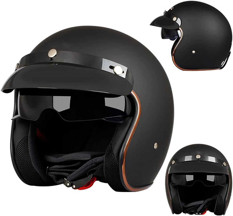 BYBYGXQ 3 4 Motorcycle Helmet Style Popularity Face Regular discount with Visor Open