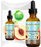 PEACH KERNEL OIL. 100% Pure/Natural/Undiluted/Refined Cold Pressed Carrier Oil for Skin, Hair, Massage and Nail Care. 4 Fl. oz-120 ml.