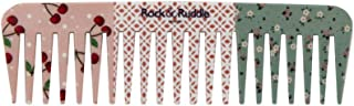 Rock & Ruddle Wide Tooth Comb. Perfect for Detangling Wet Hair and Applying Hair Color. Cherries Design