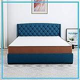 Home Edge Memory Foam Mattress King Size (Brown 78x72x8)