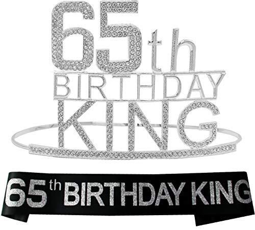 Corona del rey del 65º cumpleaños, regalo del 65º cumpleaños para hombres, banda del rey del 65º cumpleaños, regalo del 65º cumpleaños, 65º cumpleaños, 65º cumpleaños,...
