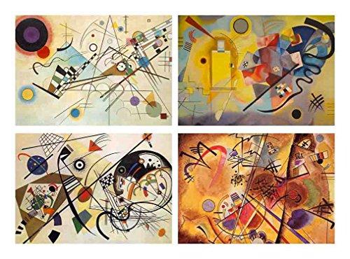 Capricci Italiani Set 4 Tovagliette plastificate Kandinsky