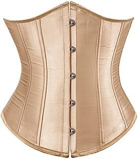 مشد كورسيه بتصميم فينتاج وستيمبنك اسفل الصدر بمقاس كبير، لنحت الخصر والصدر وشد البطن للنساء بيج XX-Large