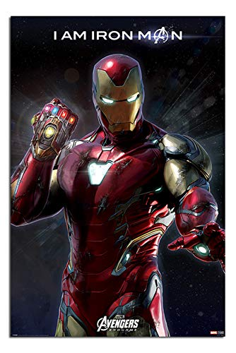 Avengers End Game I Am Iron Man Poster Maxi - 91.5 x 61cms (36 x 24 Inches)