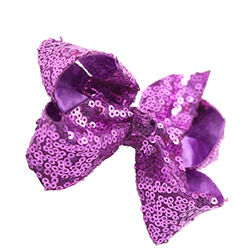 30 Pieces in Pairs Glitter Sparkle Sequins 4 Inches Bow Clips Boutique Hair Bows Alligator Clips for Baby Girls Kids Toddlers