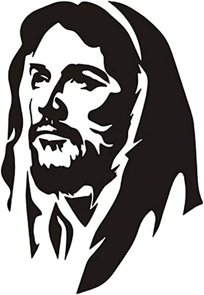 WuliLINL Wall Vinyl Decal Home Decor Art Sticker Portrait Of Jesus Religious Kids Nursery Bedroom Living Room Removable Stylish Mural Unique Design