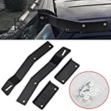 DaSen Compatible with 50' Curved or Straight LED Light Bar Mounting Bracket Kit JP Cherokee XJ 1984-2001 (No Drilling Required)