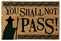 1art1 The Lord of The Rings Door Mat Floor Mat - You Shall Not Pass (24 x 16 inches) [並行輸入品]