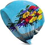Elephant Flowers Slouchy Beanie para Hombres Mujeres Summer Thin Skull Cap Baggy Oversize Knit Hat