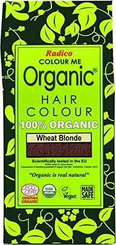 Radico Colour Me Organic Pflanzenhaarfarbe Weizen-Aschblond Weizenblond (bio, vegan, Naturkosmetik) WeizAsch
