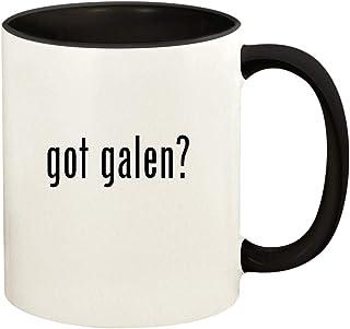 got galen? - 11oz Ceramic Colored Handle and Inside Coffee Mug Cup, Black