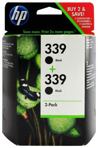 HP C9504EE#301 - Pack de 2 cartuchos de tinta HP 339, negro