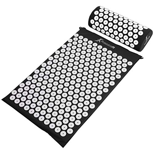 ProsourceFit Acupressure Mat and Pillow Set for...