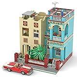CALEN Juegos de construcción de casa modular, 2906 piezas bloques de construcción edificios Cuba Havana House Arquitectura Modelo Kits de construcción, compatible con Lego