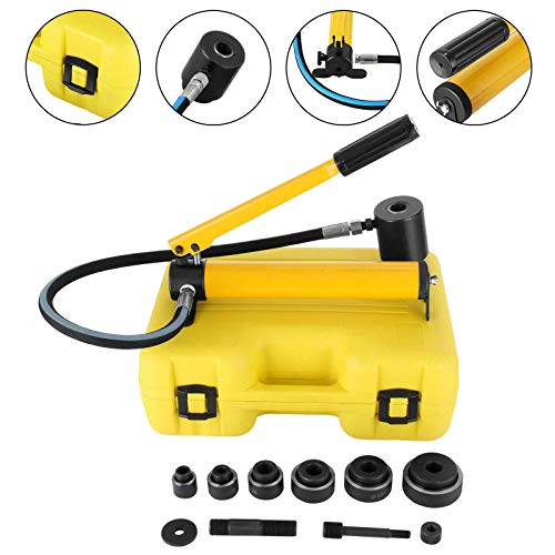 small Mophorn 10 ton 1/2 to 2 inch hydraulic punch tool set Tools for drilling holes in electrical cables …