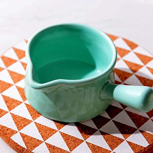 Jarra de leche de cerámica con mango pequeño taza de leche con mango leche taza de sopa tazón para hornear tazón de tazón de cuenco de jugo occidental (Size : C)