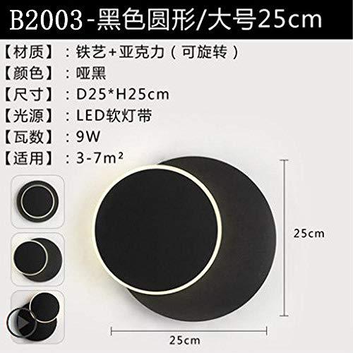 Wandlamp binnen buiten LED rond vierkante acryl LED voor de eetkamer gang, rond zwart wit licht